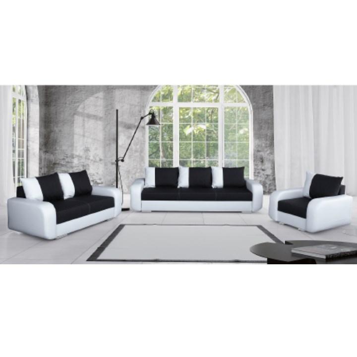 3-ülés, 2-ülés + fotel,textilbőr fehér+Boss 12, MONO