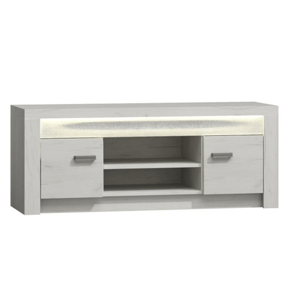 RTV stolík/skrinka, jaseň biely, INFINITY I-09