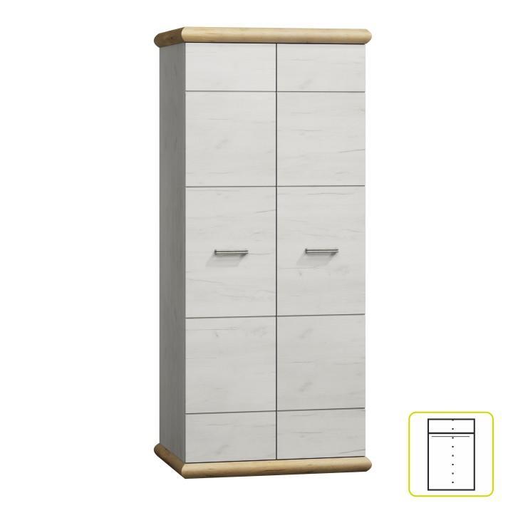 Akasztós szekrény K - 1, fehér tölgyfa/arany tölgyfa, KATY K - 01