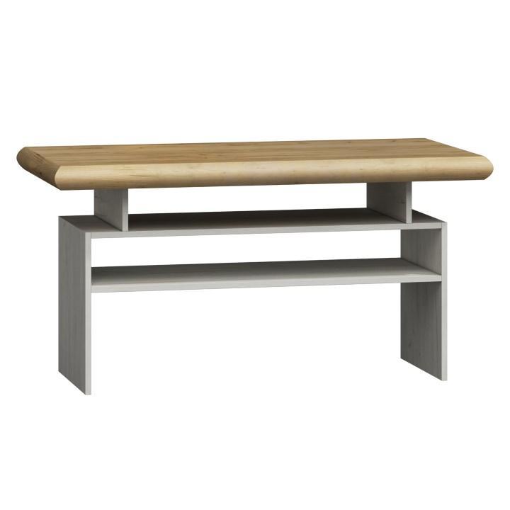 Konferenčný stôl K - 13, dub biela / dub zlatý, KATY K - 13