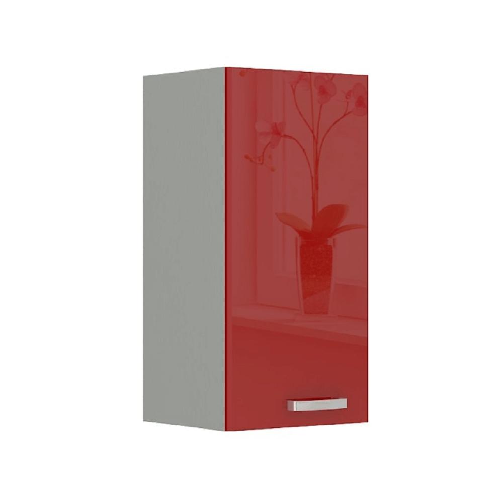 Skříňka horní, červený vysoký lesk, PRADO 40 G-72 1F, TEMPO KONDELA