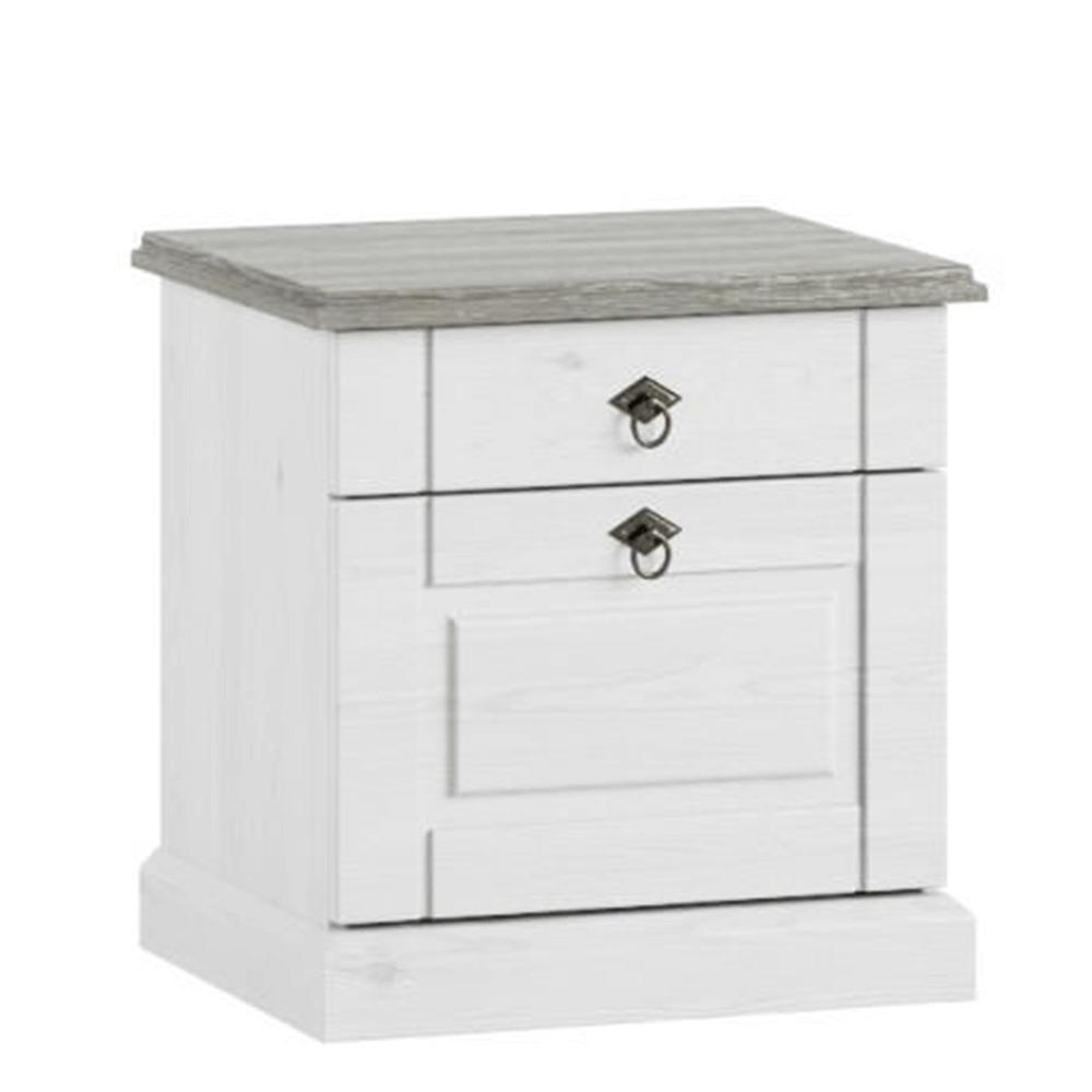 Nočný stolík, biela, LIONA LM 21