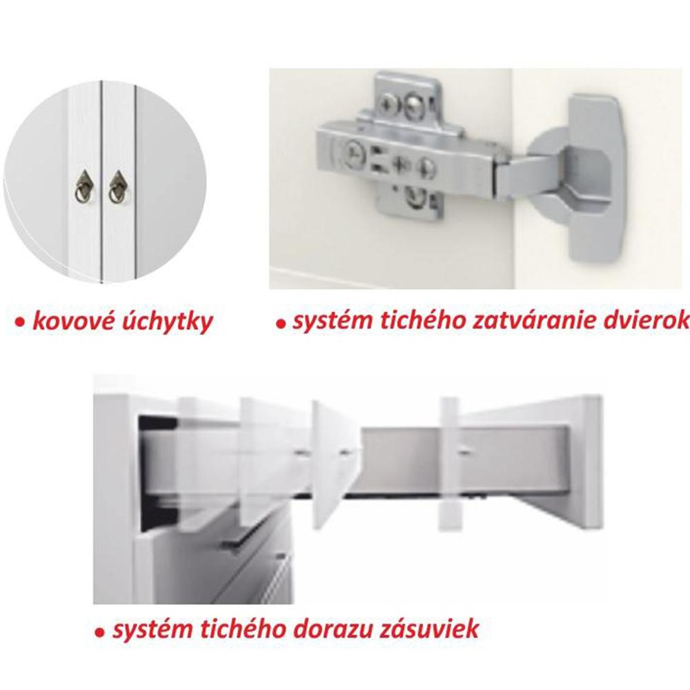 Šuplíková komoda, bílá, LIONA LM 45, TEMPO KONDELA