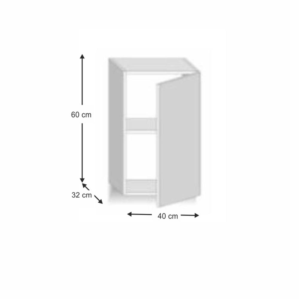 Felső szekrény, sonoma tölgyfa/magas fényű fehér HG, LINE fehér