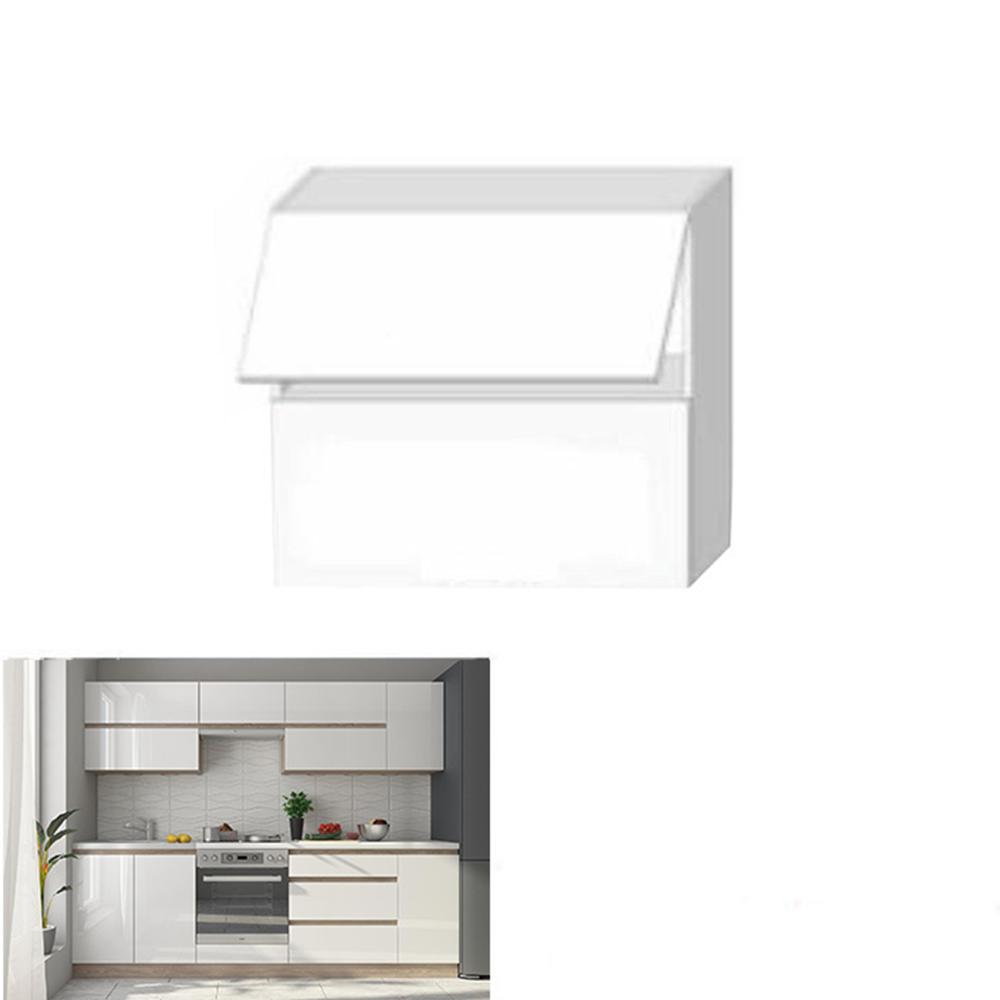 Felsőszekrény, fehér magas fényű HG, LINE G80