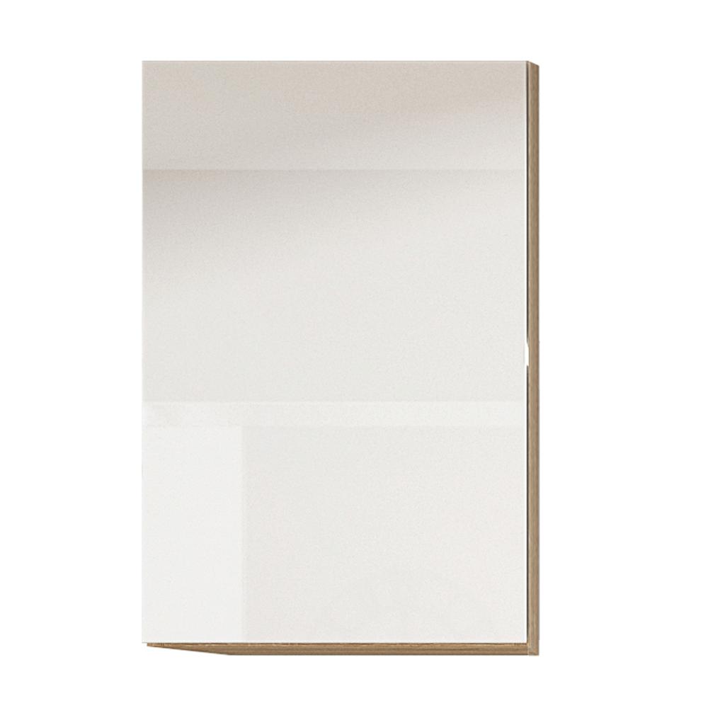 Dulap superior cu ușă verticală, alb super luciu HG, dreapta, LINE ALB