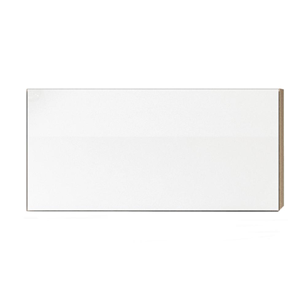 Skříňka horní G 60, vysoký bílý lesk/dub sonoma, LINE, TEMPO KONDELA