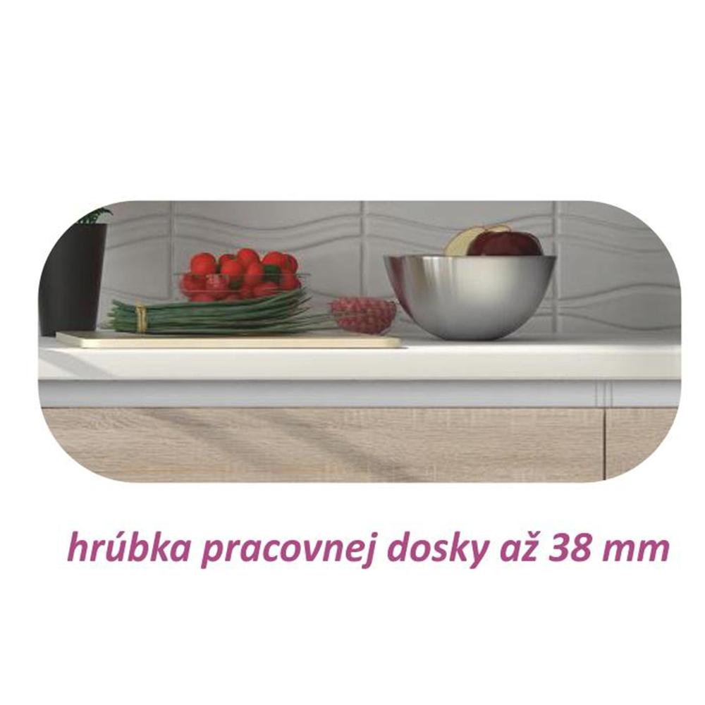 Dolní skříňka DR L, dub sonoma/bílá, LINE, TEMPO KONDELA