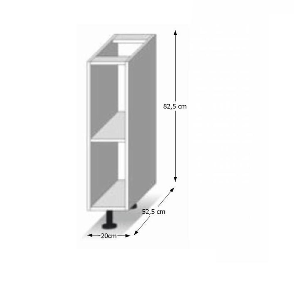Skříňka dolní D 20, bílá, LINE