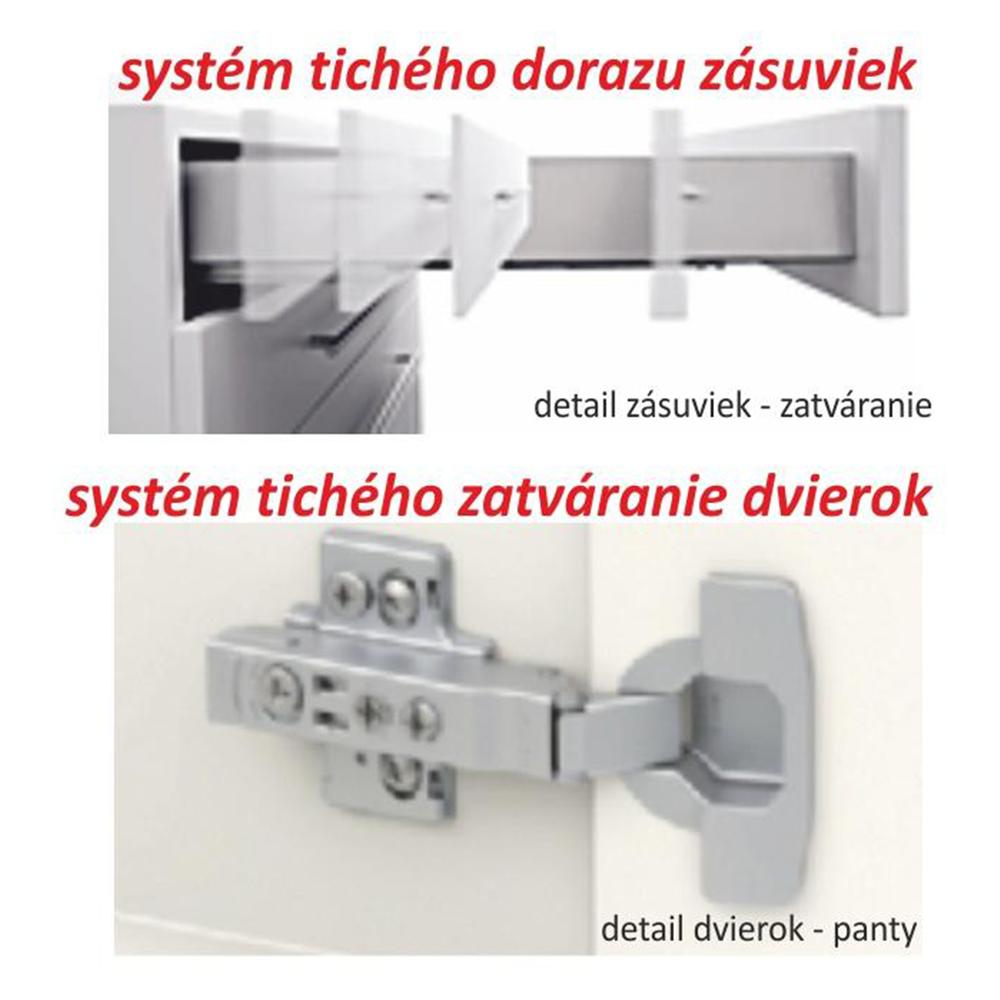 Dolní skříňka D 40, dub sonoma/bílá, LINE, TEMPO KONDELA