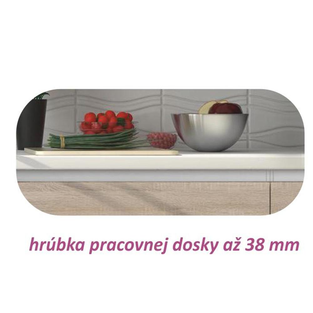 Dolní skříňka D 60, dub sonoma/bílá, LINE, TEMPO KONDELA