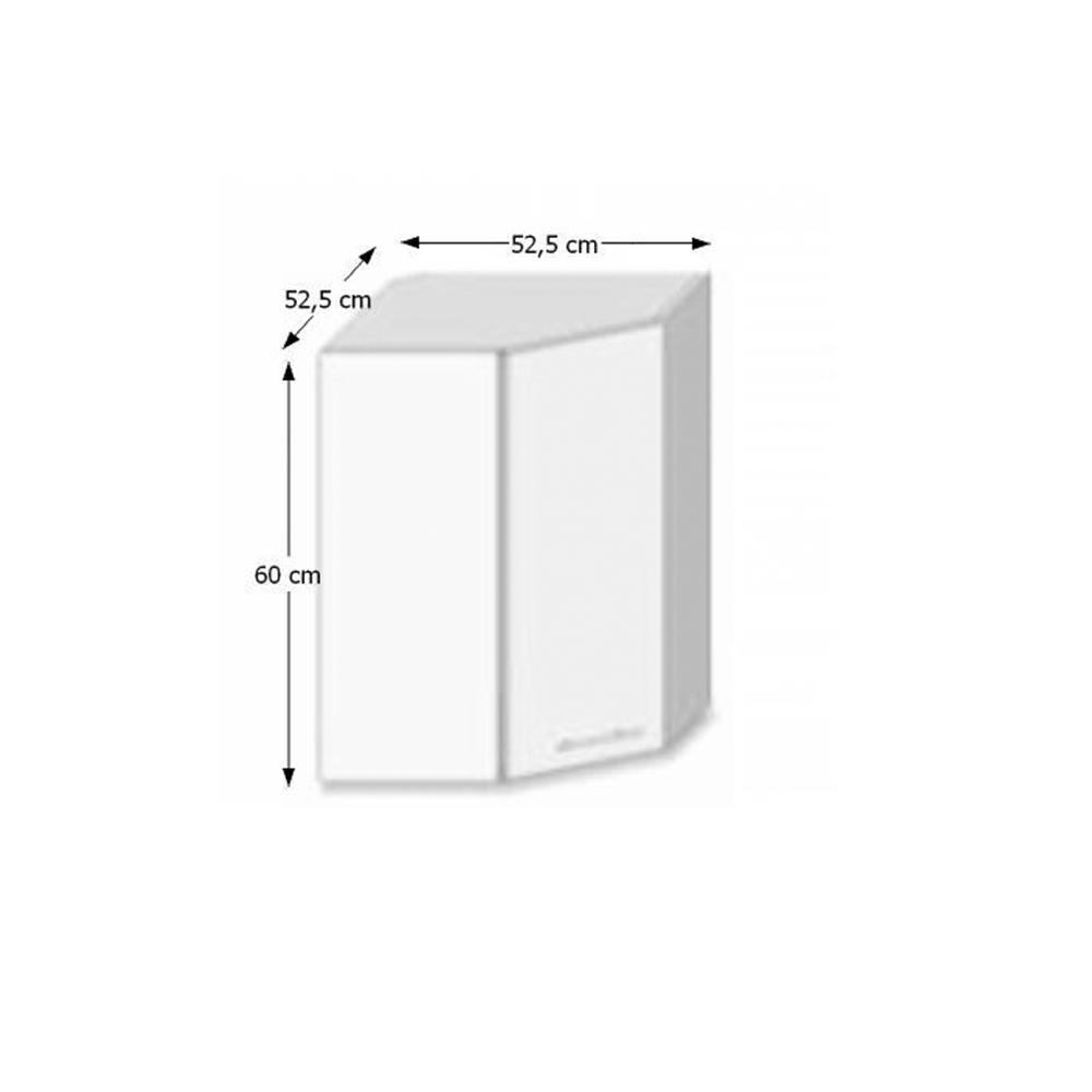 Skříňka horní GR, bílá/dub sonoma, LINE