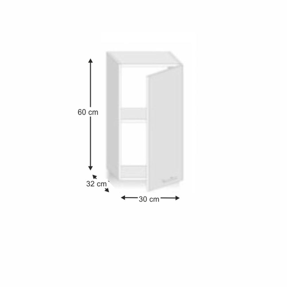 Skříňka horní G 30, dub sonoma/bílá, LINE