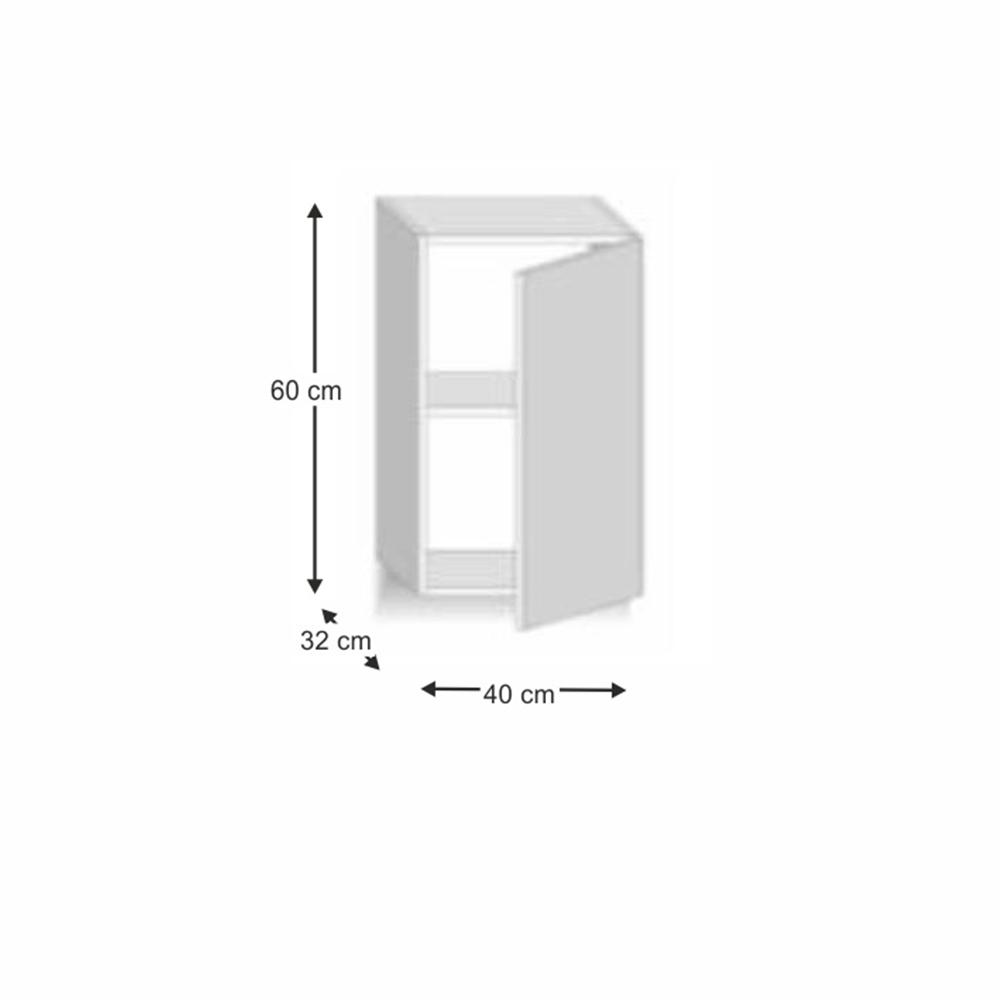 Skříňka horní G 40, dub sonoma/bílá, LINE