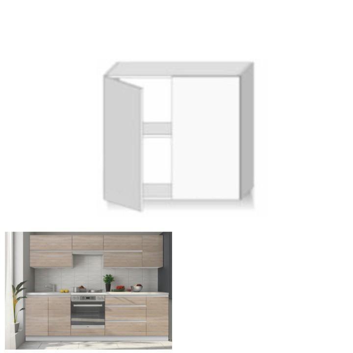 Horní skříňka G 80, dub sonoma/bílá, LINE