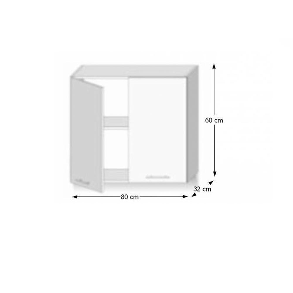 Felső szekrény 2ajtós,sonoma tölgyfa, LINE
