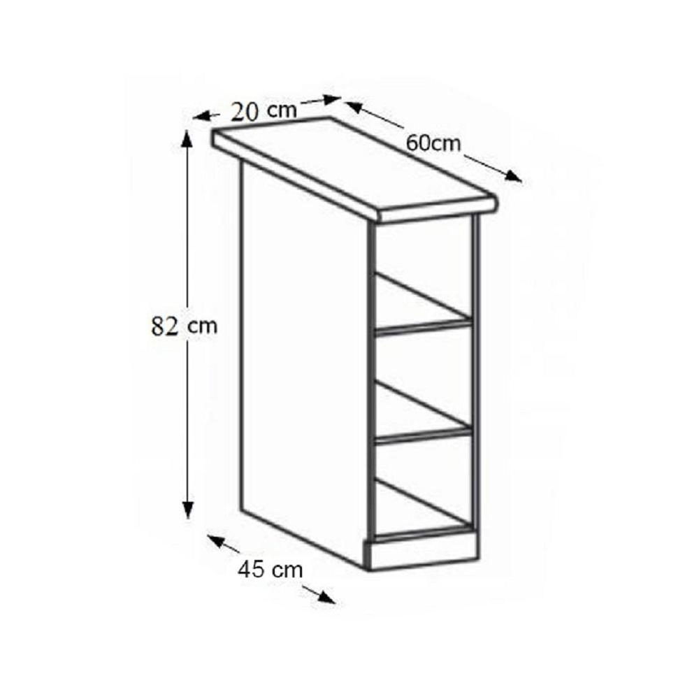 Alsó szekrény, fehér, ROYAL D20P