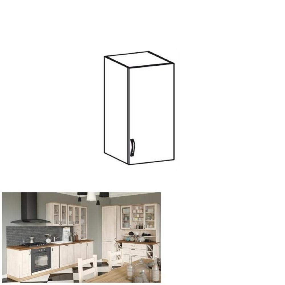 Horná skrinka, biela/sosna nordická, pravá, ROYAL G40