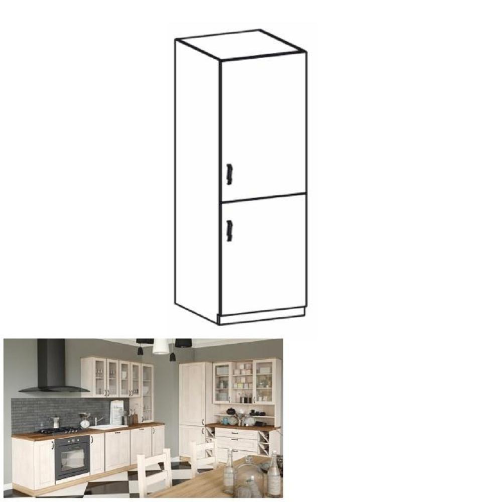 Vysoká skříňka, bílá / sosna skandinávská, pravá, ROYAL D60R