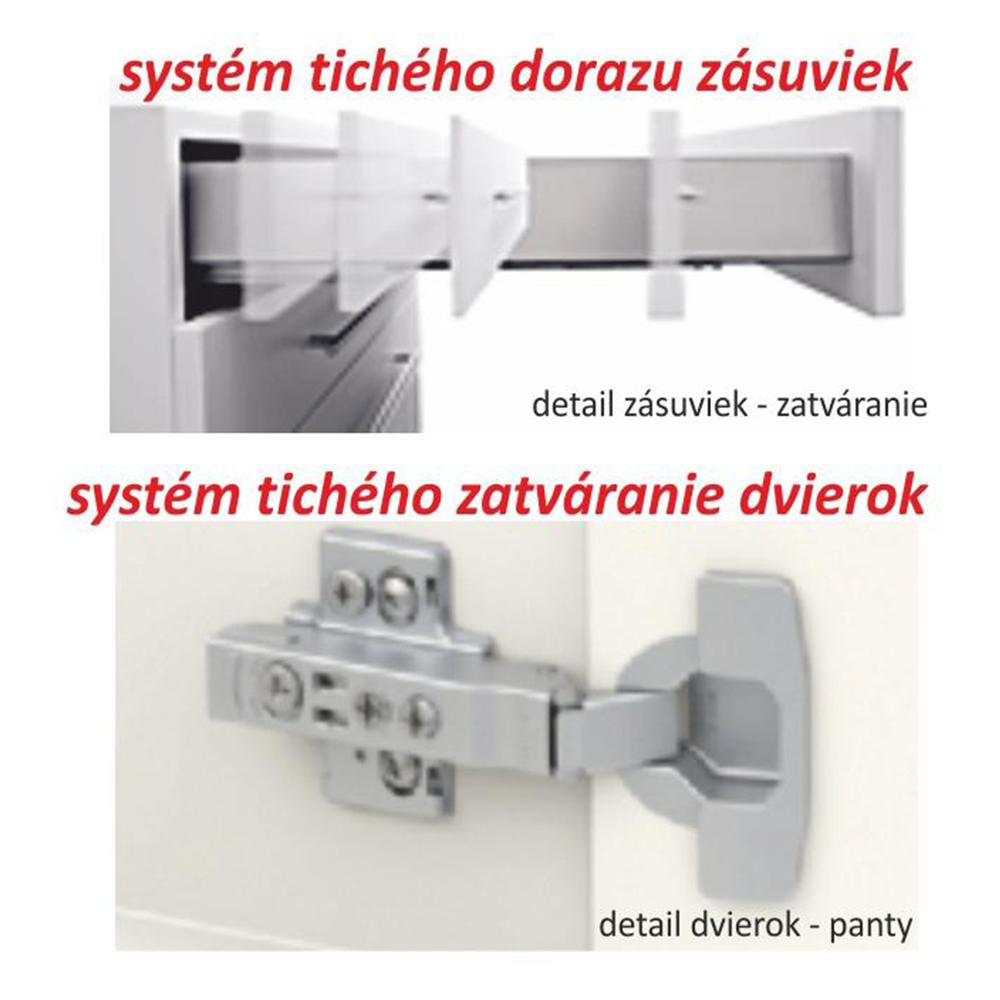 Kuchyňská sestava, dub sonoma/bílá, LINE, TEMPO KONDELA