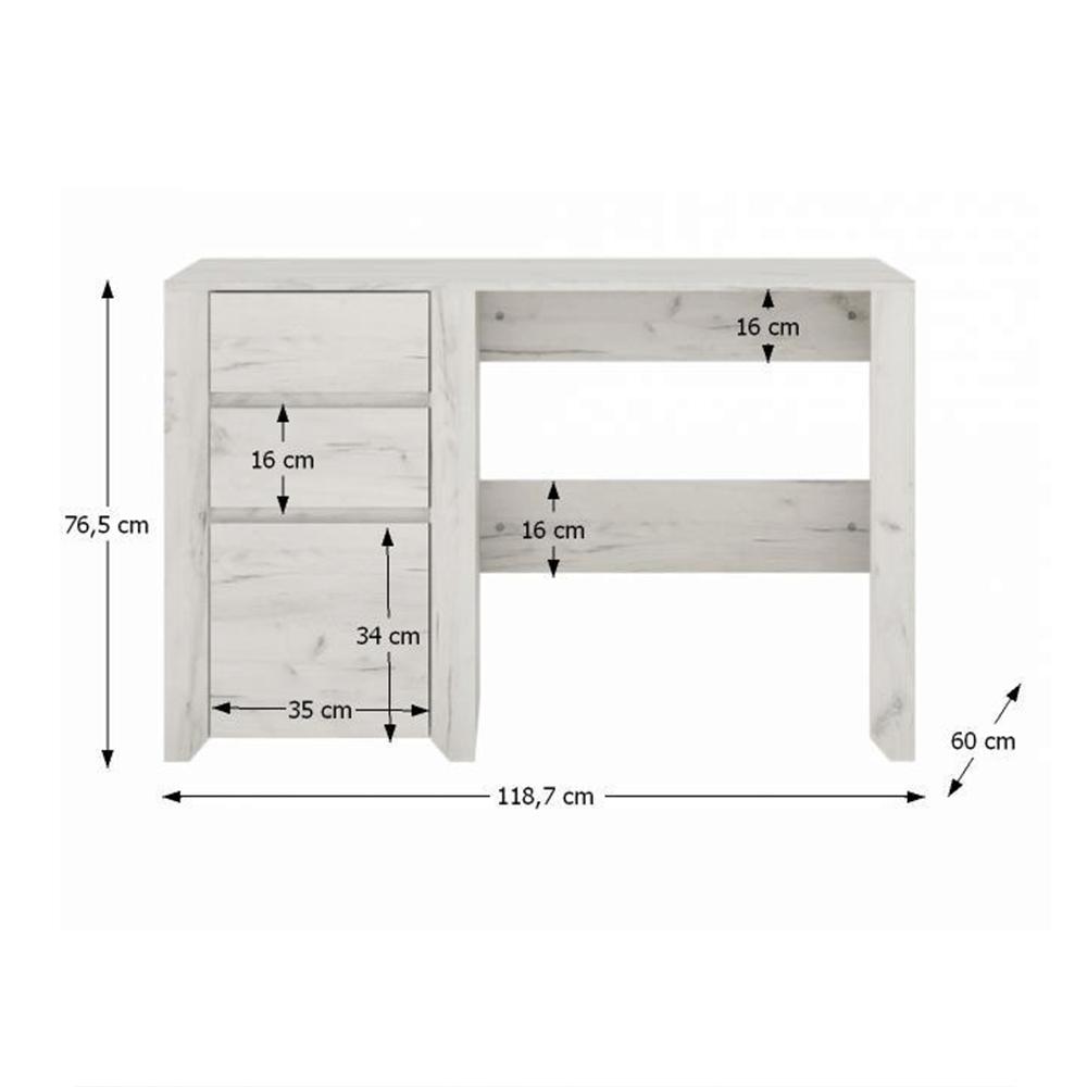 PC stůl typ 80, bílá craft, ANGEL, TEMPO KONDELA