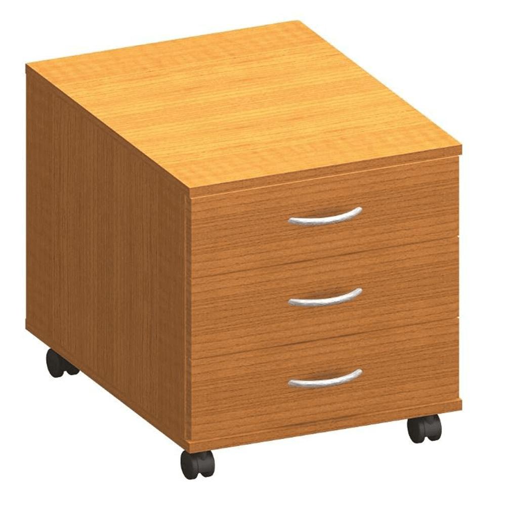 třízásuvkový kontejner, DTD laminovaná, ABS hrany, třešeň, TEMPO ASISTENT NEW 016, TEMPO KONDELA