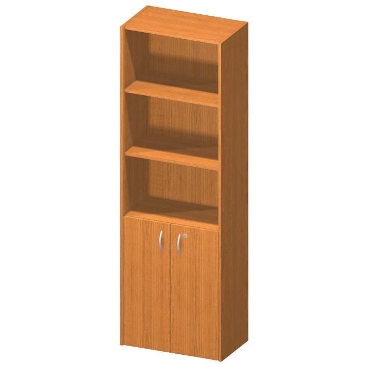Szekrény, lent ajtók+zár., cseresznye, TEMPO ASISTENT NEW 002