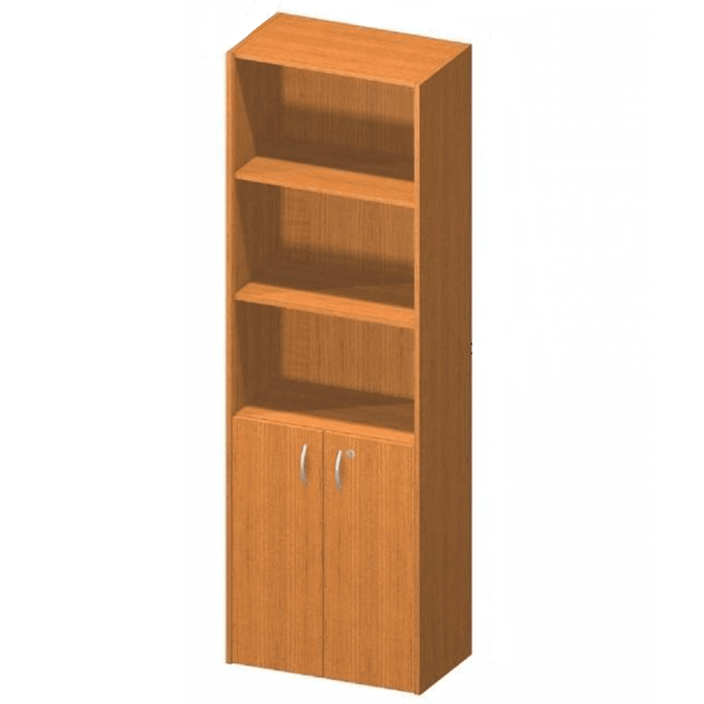 Kancelárska skrinka so zámkom, čerešňa, TEMPO ASISTENT NEW 002
