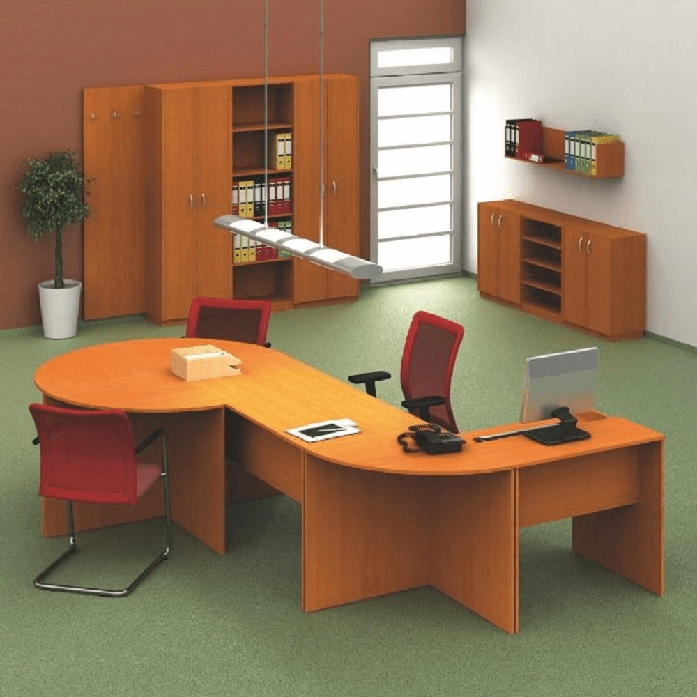zasedací stůl, DTD laminovaná, ABS hrany, třešeň, TEMPO ASISTENT NEW 020, TEMPO KONDELA