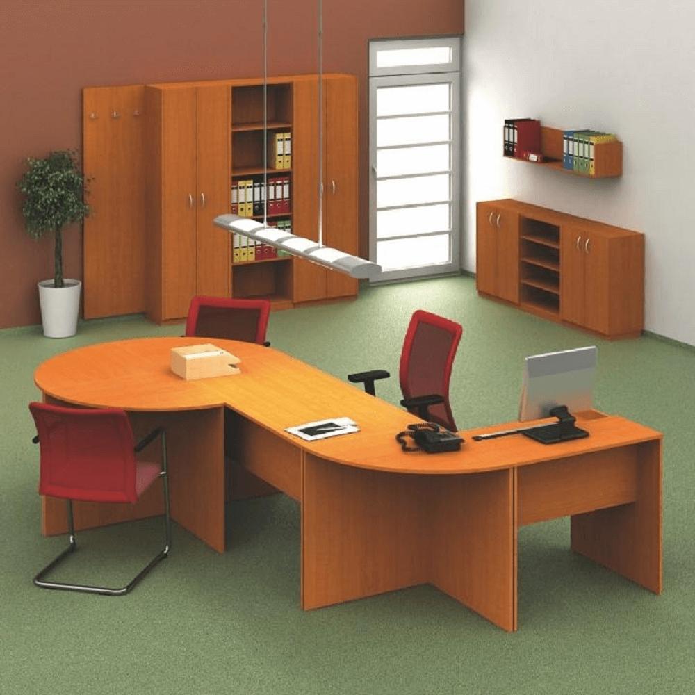 Zasedací stůl s obloukem 150, třešeň, TEMPO ASISTENT NEW 022, TEMPO KONDELA