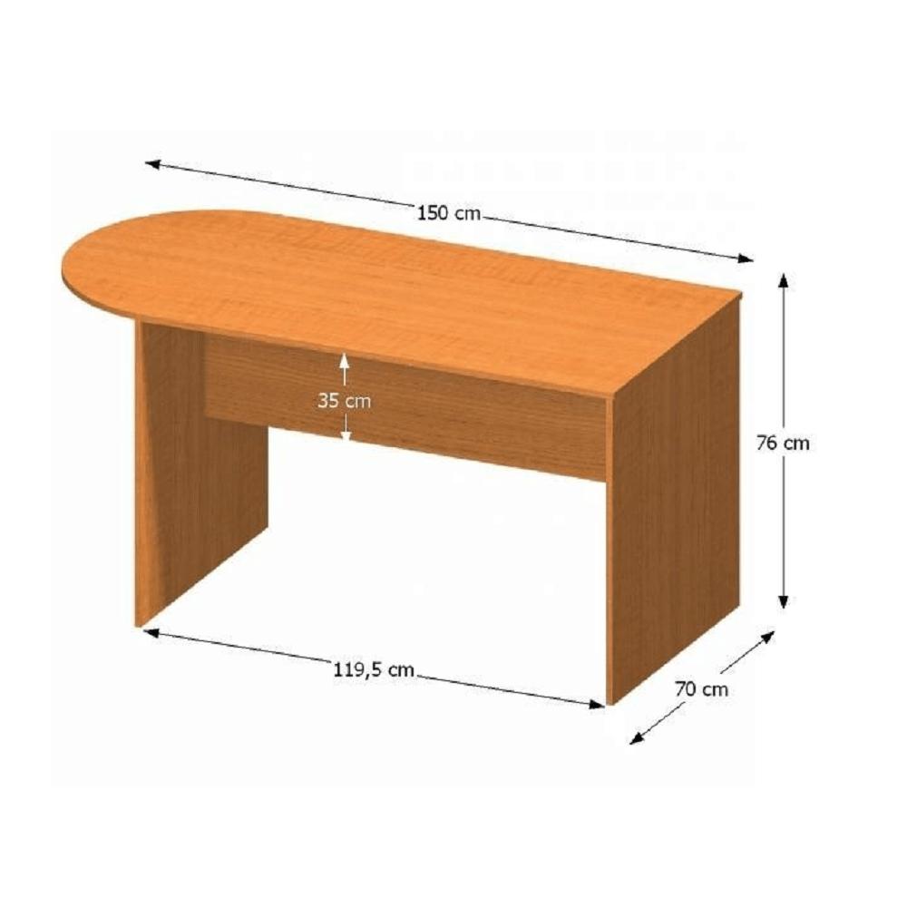 Tárgyalóasztal ívvel 150, cseresznye, TEMPO ASISTENT NEW 022