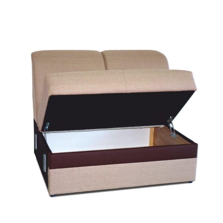 2-személyes ülőgarnitúra, Portland világosbarna 22/csoki műbőr, ROSANA
