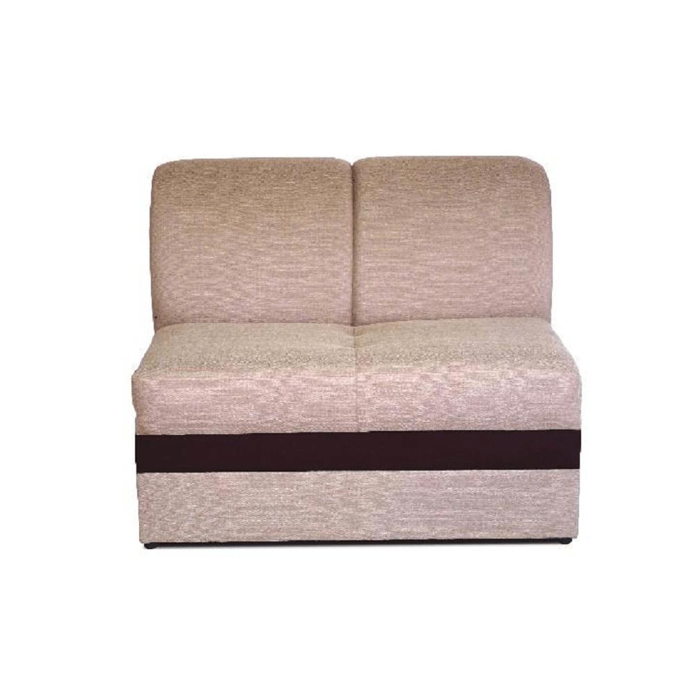 2-személyes ülőgarnitúra, Portland világosbarna 22/csoki textilbőr, ROSANA