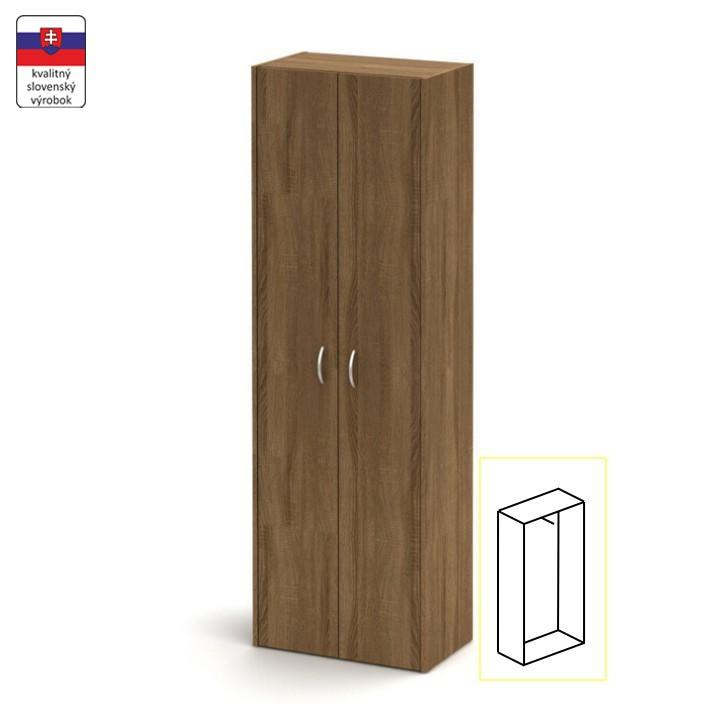Akasztó szekrény + zár, sötét bardolino, TEMPO ASISTENT NEW 006