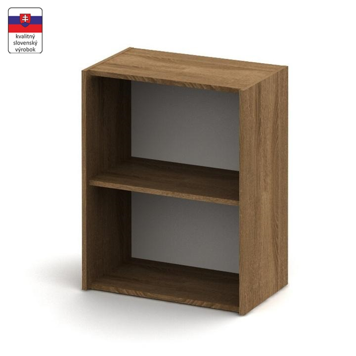 Alacsony szekrény, sötét bardolino, TEMPO ASISTENT NEW 010