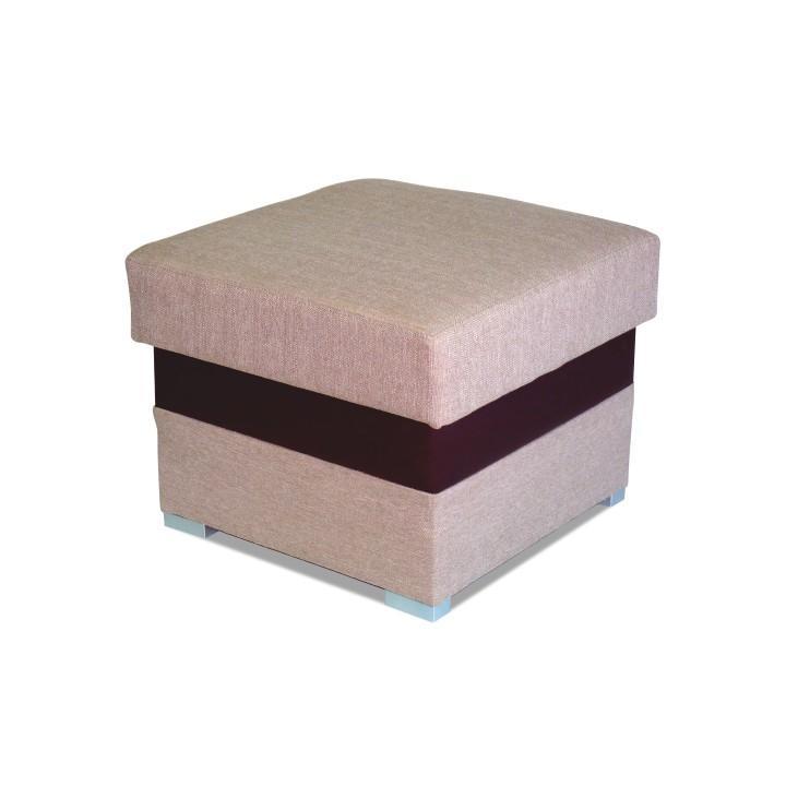 Puff,Portland világos barna 22/csokoládé színű textilbőr, ROSANA