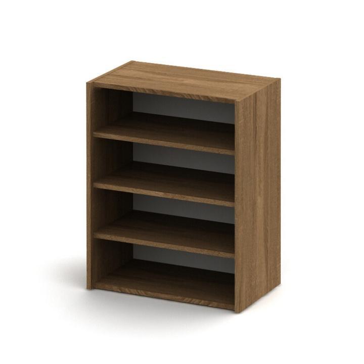 Alacsony szekrény, sötét bardolino, TEMPO ASISTENT NEW 013