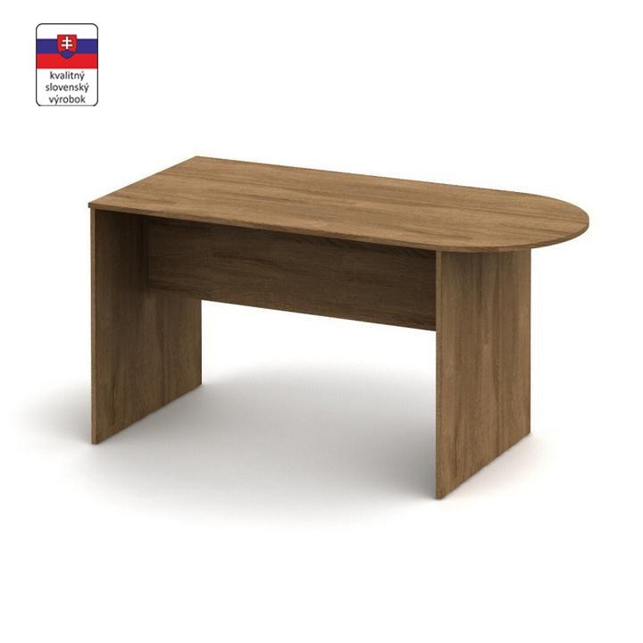 Zasadací stôl s oblúkom 150, bardolino tmavé, TEMPO ASISTENT NEW 022