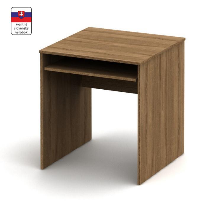 Stôl písací s výsuvom, bardolino tmavé, TEMPO ASISTENT NEW 023