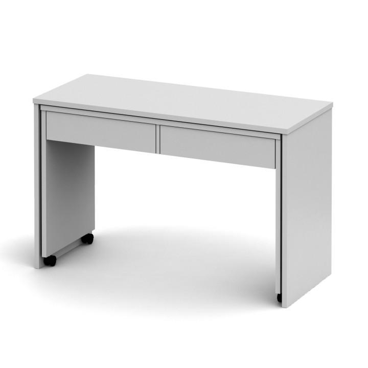 Számítógépasztal, szétszedhető, fehér/fehér, VERSAL NEW