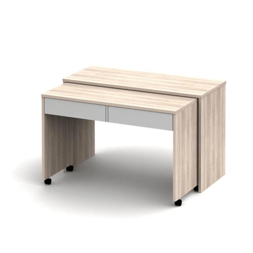 Számítógépasztal, szétszedhető, sonoma tölgyfa/fehér, VERSAL NEW