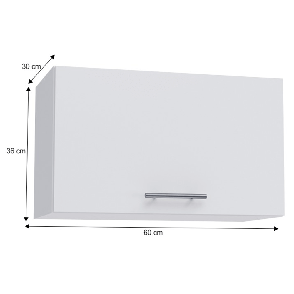 Horní skříňka, bílá, FABIANA W - 60OK, TEMPO KONDELA