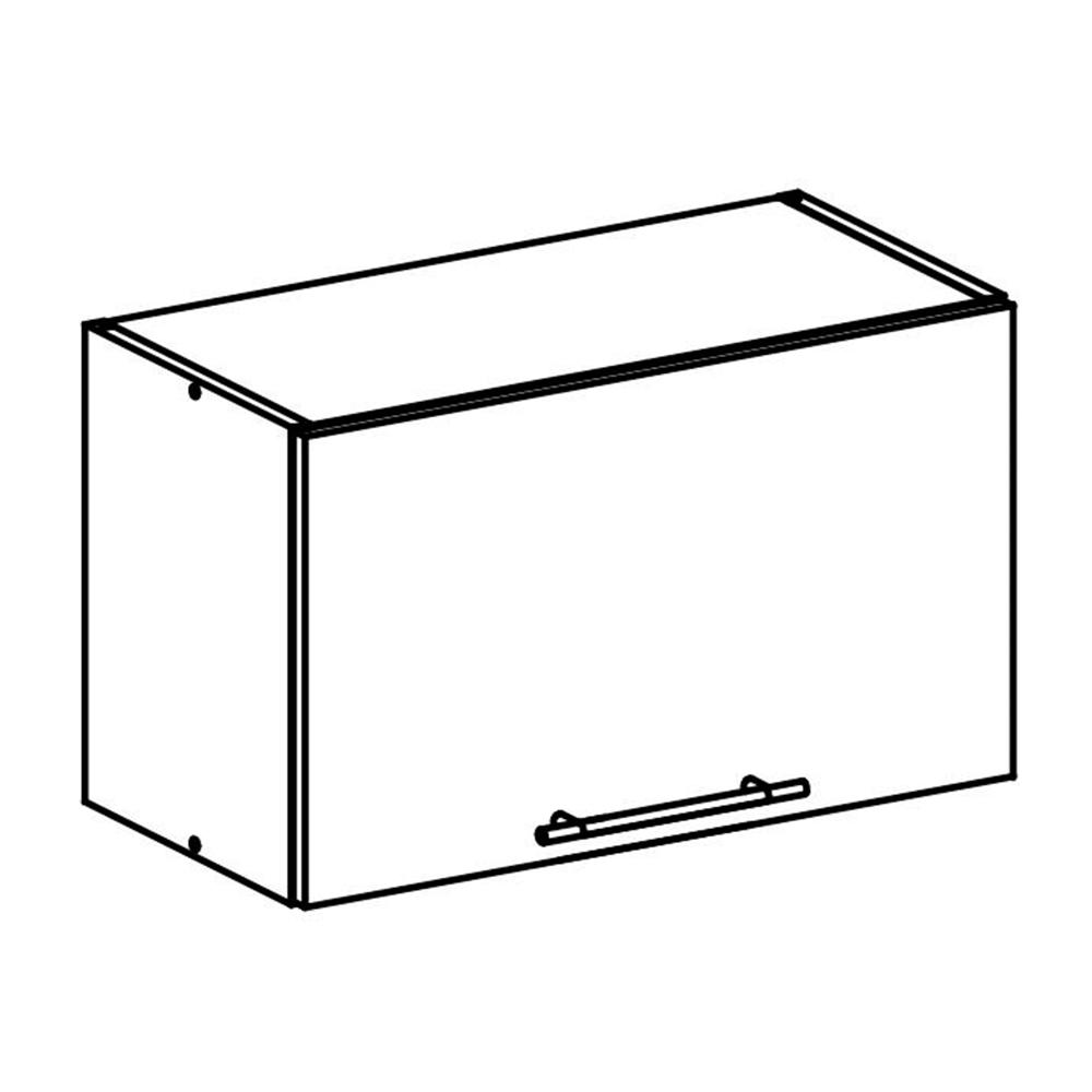 Felső szekrény, sonoma tölgyfa/fehér, FABIANA W - 60OK