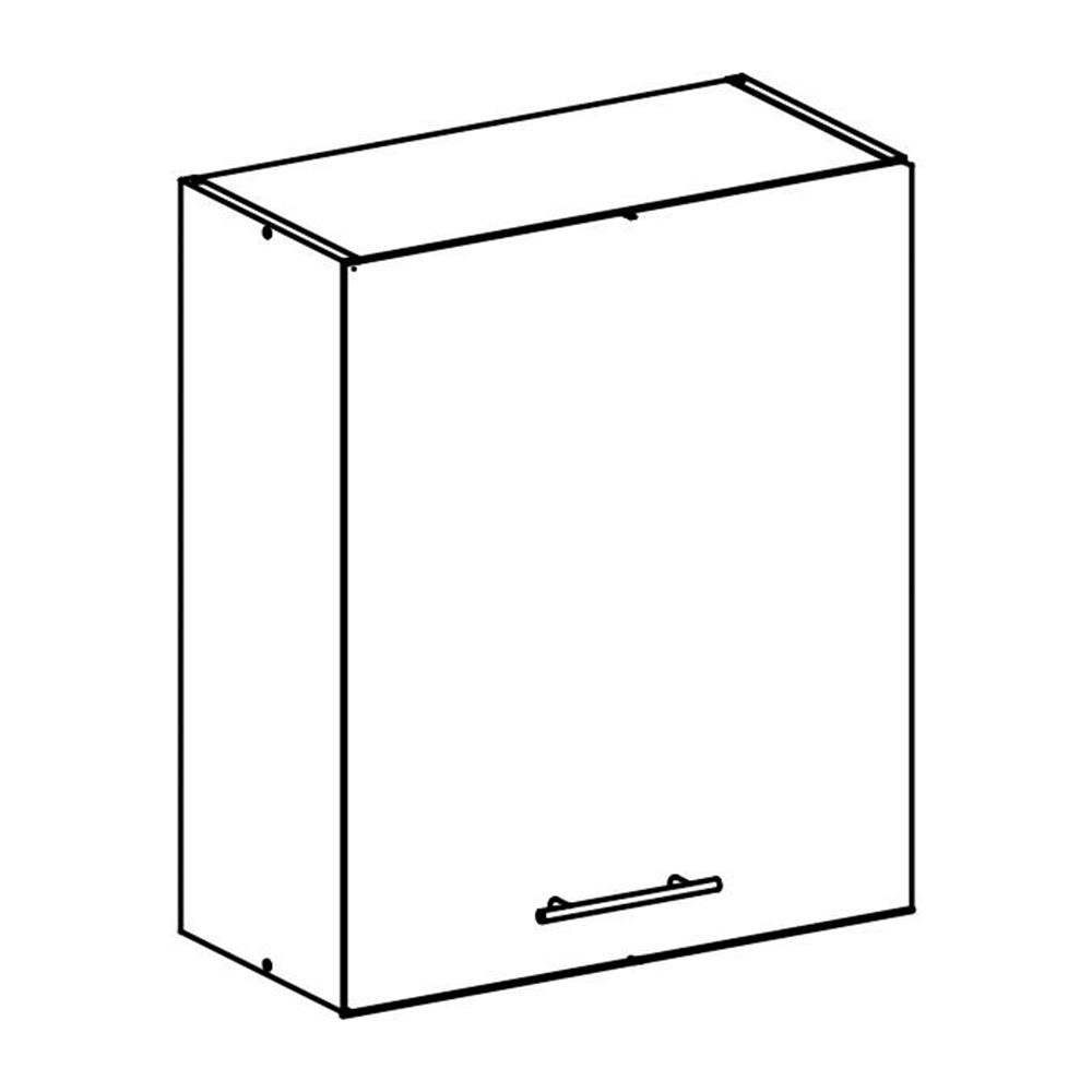Felső szekrény, sonoma tölgyfa/fehér, FABIANA W - 60