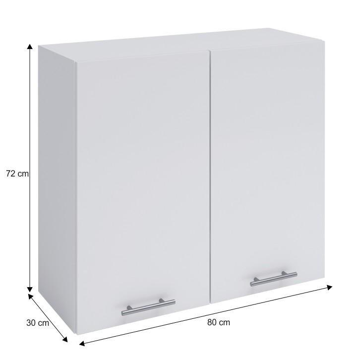 Felső szekrény, fehér, FABIANA W - 80