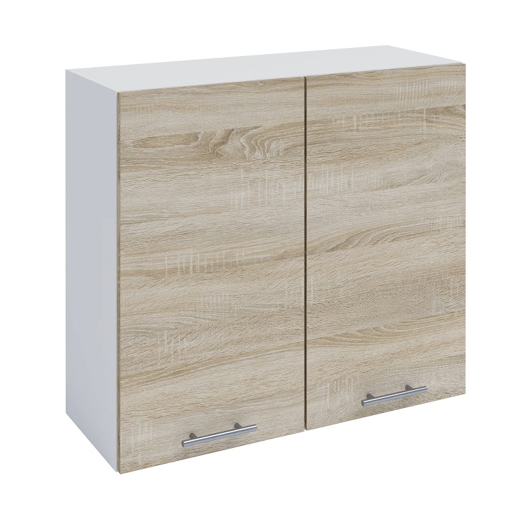 Horní skříňka, dub sonoma / bílá, FABIANA W - 80, TEMPO KONDELA