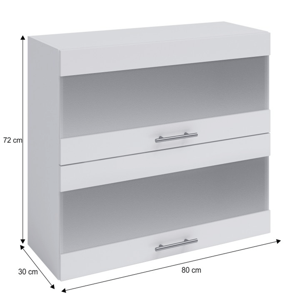 Horní skříňka, bílá, FABIANA W - 80K2S, TEMPO KONDELA