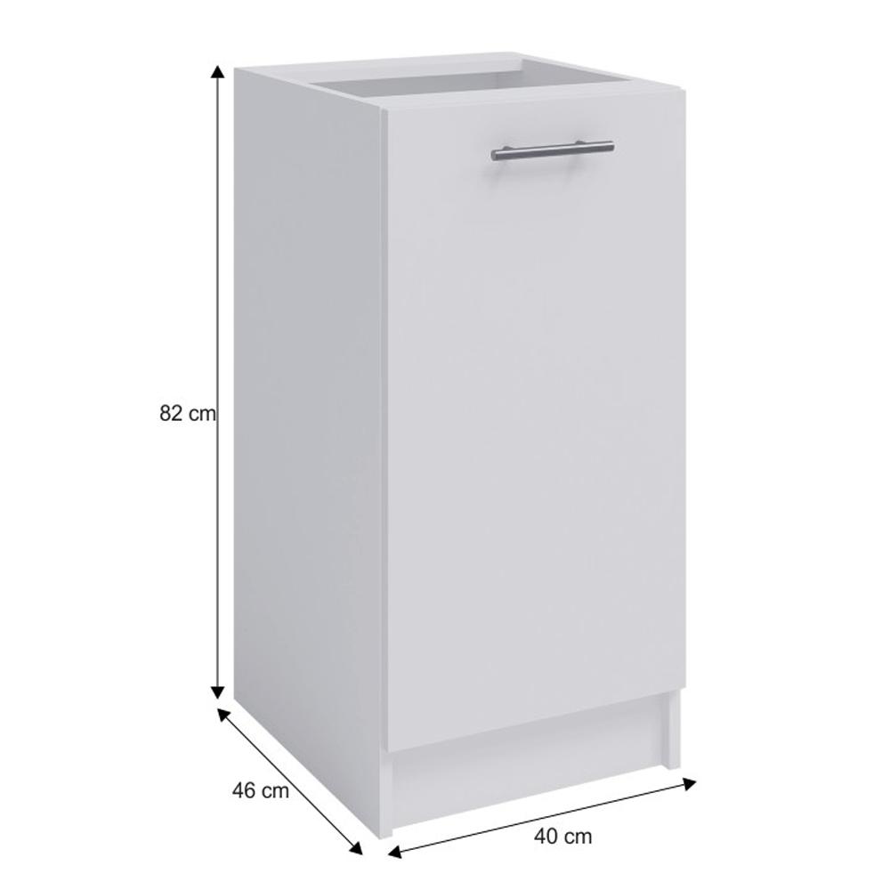 Dolní skříňka, bílá, FABIANA S - 40, TEMPO KONDELA