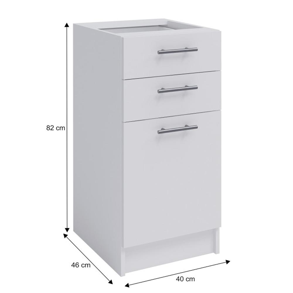 Spodní kombinovaná skříňka, bílá, FABIANA S-40SZ2, TEMPO KONDELA