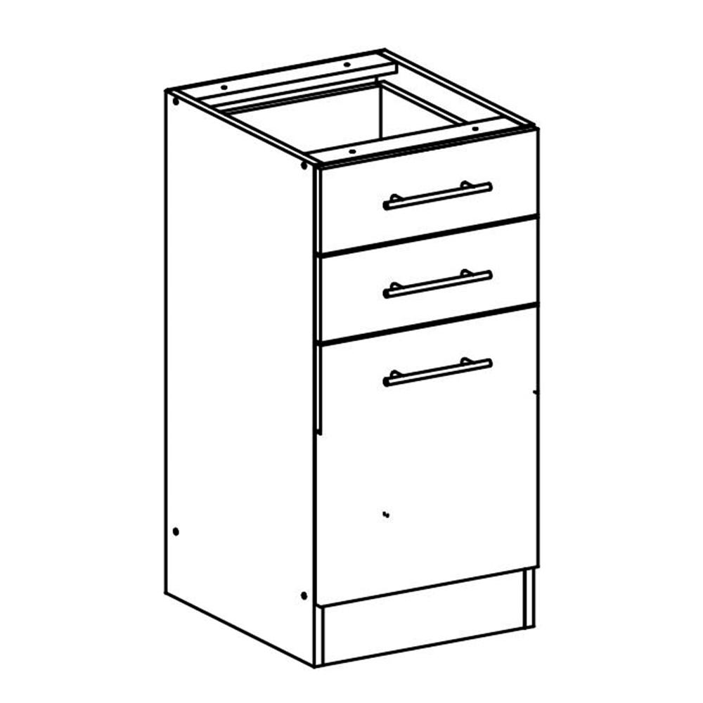 Dolní skříňka, dub sonoma / bílá, FABIANA S - 40SZ2
